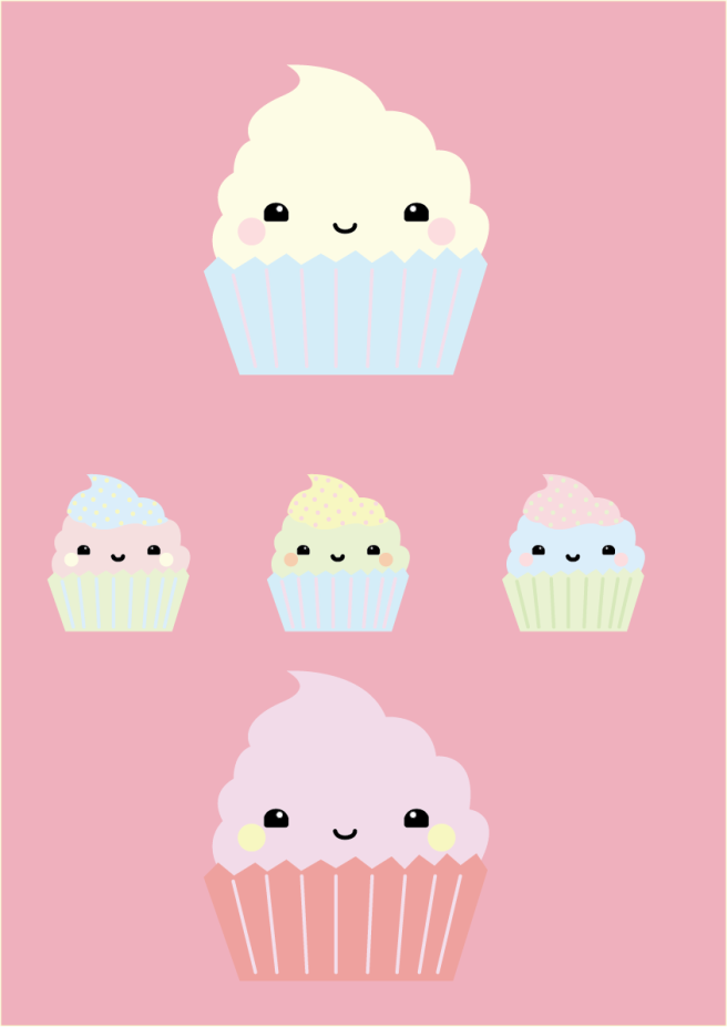 Cupcakes with background